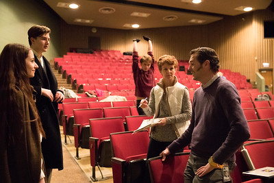 Whitney Rupp for Shaw MediaOlivia Perovic, 18, and Kris Slimke, 14, discuss costumes with costume designer Laura Ryan and play director Ben Stoner.