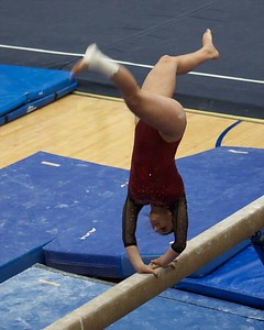 Prarie Ridge's Kira Karlblom  performs on the balance beam on Feb 7 at Hoffman Estates Sectional.