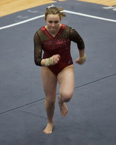 Prairie Ridge's Clara Ryan performs on the floor exercise  on Feb 7 at Hoffman Estates Sectional.