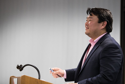Whitney Rupp for Shaw Media Assistant Superintendent Thomas Kim speaks during a District 155 meeting Monday, Feb. 12.