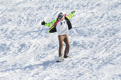 Candace H. Johnson-For Shaw Media Jacob Kling, 21, of Round Lake rides a snowboard down Hart's Hill in Round Lake.(2/11/18)