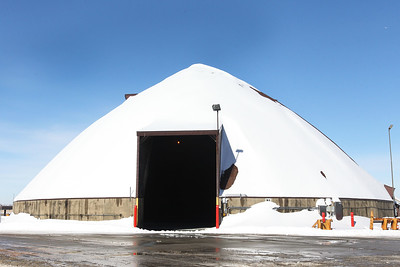 Candace H. Johnson-For Shaw Media A large salt dome sits at the Lake County Division of Transportation on Winchester Road in Libertyville.(2/12/18)
