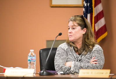 Whitney Rupp for Shaw Media Algonquin Township Clerk Karen Lukasik listens to a public comment at the Feb. 14 board meeting.