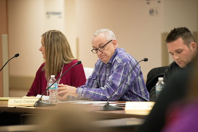 Whitney Rupp for Shaw Media Algonquin Township board members Melissa Victor, left, and Dave Chapman attend the Feb. 14 board meeting.