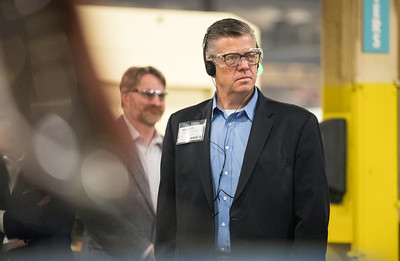 Whitney Rupp for Shaw Media Congressman Randy Hultgren takes a tour of UniCarriers in Marengo Feb. 17.