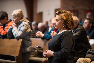 Whitney Rupp for Shaw Media Catherine Werner of Crystal Lake attends Ash Wednesday services at St. Thomas the Apostle Church in Crystal Lake Wednesday, Feb. 14.