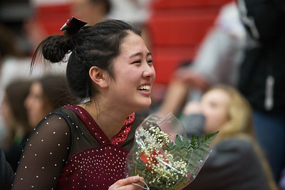 Whitney Rupp for Shaw Media Maddy Kim of Prairie Ridge reacts after winning the state title in uneven bars at the IHSA State Championships in Palatine Saturday, Feb. 17. Kim won with a score of 9.6000.