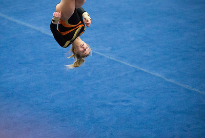Whitney Rupp for Shaw Media Madison Hickey of DeKalb performs in the floor exercise event final at the IHSA State Championships in Palatine Saturday, Feb. 17.