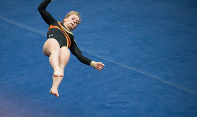 Whitney Rupp for Shaw Media DeKalb's Madison Hickey performs in floor exercise finals at the IHSA State Championships in Palatine Saturday, Feb. 17.