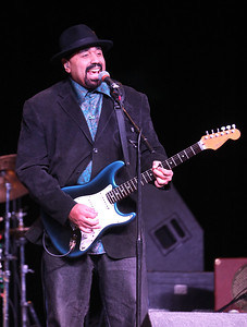 Candace H. Johnson-For Shaw Media Wayne Baker Brooks plays the blues with his Wayne Baker Brooks band during the Blues Double Bill concert at the Round Lake Beach Cultural & Civic Center.Howard & The White Boys also played contemporary blues during the evening at the center.(2/17/18)