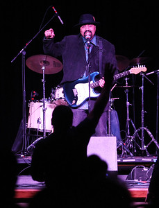 "Candace H. Johnson-For Shaw Media Wayne Baker Brooks sings the blues with his band as they play a song from his ""Mystery"" album during the Blues Double Bill concert at the Round Lake Beach Cultural & Civic Center.Howard & The White Boys contemporary blues band also performed during the evening.(2/17/18)"
