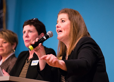 Whitney Rupp for Shaw Media Candidate for Congressional District 6 Jennifer Zordani speaks at McHenry County College Monday, Feb. 19.