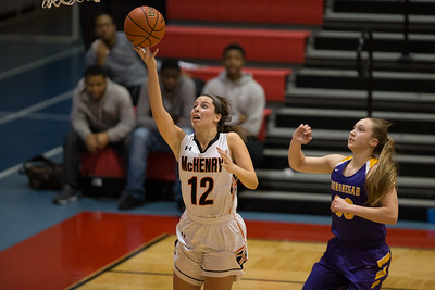 Whitney Rupp for Shaw Media Aannah Interrante of McHenry takes a shot during the Class 4A Sectional Tuesday, Feb. 20.