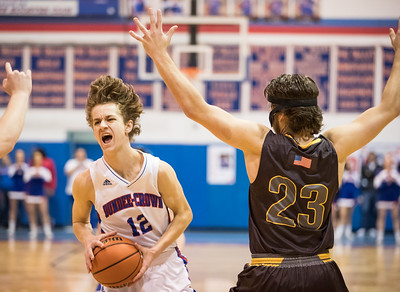 Whitney Rupp for Shaw Media Joshua Raby, Dundee-Crown, controls the ball against Jacobs Friday night.