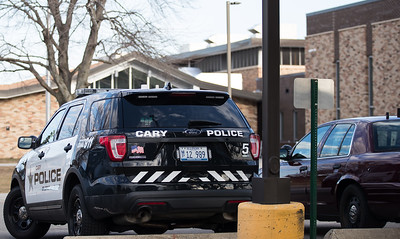 Whitney Rupp for Shaw Media  Police are seen on the campus of Cary-Grove High School on the morning of Tuesday, Feb. 27, 2018 after a threat was made on Monday night on social media.