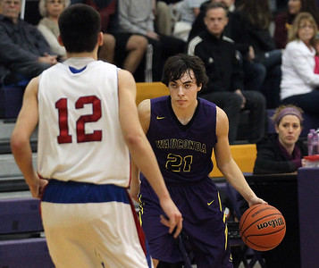Candace H. Johnson-For Shaw Media Wauconda's Jimmy Ott (#21) looks to drive around Lakes Wade Parmly in the second quarter during the Class 3A regional semi-final game at Wauconda High School. Wauconda won 52-51. (2/27/18)