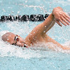 Hinsdale Central's Donovan Lahmann swims the 200-yard freestyle during state swimming and diving finals at Evanston High School on Feb. 24.