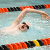 Downers Grove South's Matthew Leinart swims the 200-yard freestyle Athletes with Disabilities finals during the state meet in Evanston on Feb. 24.