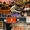 St Charles East diver Joey Scimeca competes in the diving portion of the state meet held at Evanston High School on Feb. 24.