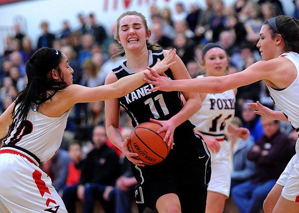 Kaneland at Yorkville girls varsity basketball
