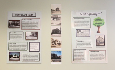 "Candace H. Johnson-For Shaw Media The history of Grays Lake Park is on display during the opening day of the ""Where the Fun Grows: 60 Years of the Grayslake Community Park District"" exhibit at the Grayslake Heritage Center & Museum. The exhibit is on display until November 2019. (2/2/19)"