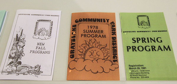 "Candace H. Johnson-For Shaw Media Copies of Grayslake Community Park District program booklets were on display to look through during the opening day of the ""Where the Fun Grows: 60 Years of the Grayslake Community Park District"" exhibit at the Grayslake Heritage Center & Museum. (2/2/19)"