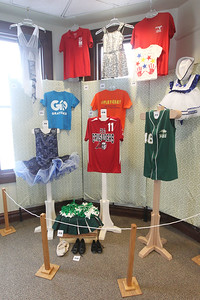 "Candace H. Johnson-For Shaw Media Uniforms from different sports programs offered at the Grayslake Community Park District are featured in the ""What's in Your Closet"" display during the opening day of the ""Where the Fun Grows: 60 Years of the Grayslake Community Park District"" exhibit at the Grayslake Heritage Center & Museum. The exhibit is on display until November 2019.(2/2/19)"