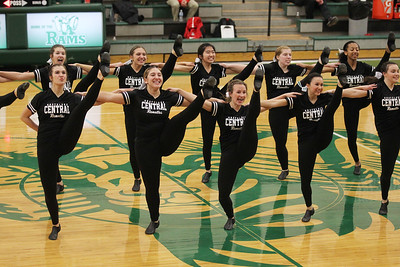 Candace H. Johnson-For Shaw Media Grayslake Central's varsity Dance Team performs at half-time during the boys basketball game against Grant at Grayslake Central High School. (2/19/19)