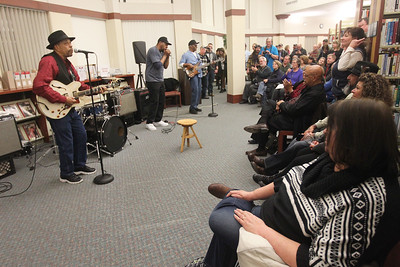 Candace H. Johnson-For Shaw Media John Primer and The Real Deal Blues Band entertain the crowd during Grapes & Growlers-A Night at the Library at the Lake Villa District Library. Grapes & Growlers is the Lake Villa District Foundation's annual winter event with wine and craft beer tastings. (2/15/19)