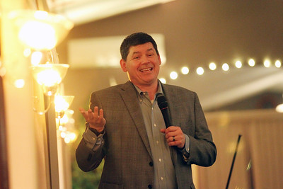 Candace H. Johnson-For Shaw Media Comedian Dan Deibert talks about married life as he entertains the crowd during the Lake Villa Township Lions Club Comedy Night at Parkway Banquets in Ingleside. (2/25/19)