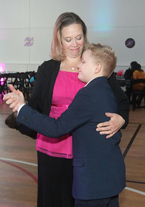 Candace H. Johnson-For Shaw Media Dean Boelke, 10, of Ingleside dances with his mother, Sherri, during the Sock Hop Mother & Son dance at the Lakefront Park Building in Fox Lake. (2/1/20)