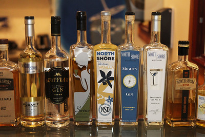Candace H. Johnson-For Shaw Media Bottles of world-class artisan spirits sit at the bar and are made at North Shore Distillery in Green Oaks. The world class artisan spirits can be found at different retailers including: Whole Foods, Sunset Foods and Trader Joe's. (2/8/20)