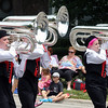 The Band of the Blackwatch (Kenosha, WI) march in the 67th Swedish Days Parade on June 26 in Geneva.