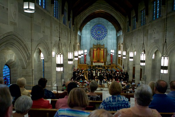 The St. Charles Singers directed by Jeffrey Hunt perform on June 3 at Baker Memorial United Methodist Church in St. Charles.