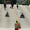The soap box derby heads down Houston Street during a Flag Day observance at the Batavia Riverwalk on June 11.