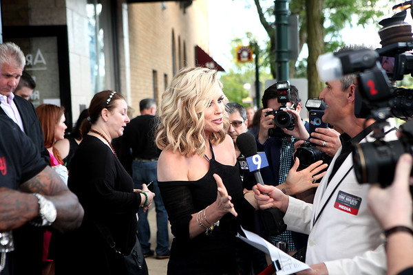 Jenny McCarthy meets with the press before Another Evening with Donnie Wahlberg benefiting Generation Rescue at the Arcada Theatre in St. Charles June 19.