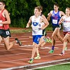 Tyler Dau a senior of Geneva runs the 3200 meter run June 10, during the Midwest Distance Classic at Benedicitine University in Lisle.<br /> David Toney for Shaw Media