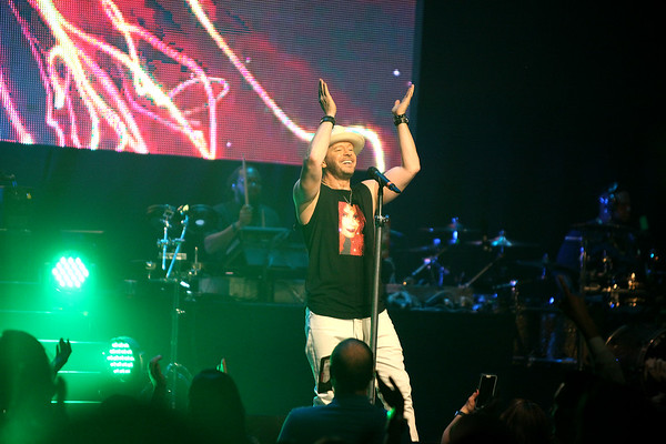 Donnie Wahlberg performs during Another Evening with Donnie Wahlberg at the Arcada Theatre benefiting Generation Rescue June 19 in St. Charles.