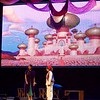 Jasmine, played by Katie Das, and Aladdin, played by Jonah Zimmermann, hide from the palace during a performance of Aladdin Junior at the Arcada Theatre in St. Charles June 25.