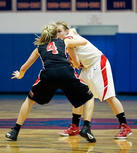 Jenny Kane - jkane@shawmedia.com Tues. Jan. 3, 2012, Dundee-Crown girls basketball team defeated Huntley 44-41 at Dundee.