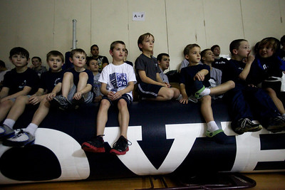 Lauren M. Anderson - landerson@shawmedia.com Young boys watch the wrestling matches between Cary-Grove and McHenry on Thursday at Cary-Grove High School.