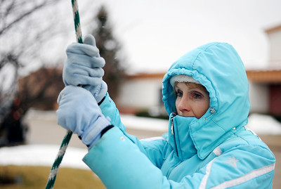 Sarah Nader - snader@shawmedia.com Mary Mauch of McHenry takes her turn ringing the bell at the Church of Holy Apostles in McHenry on Monday, January 23, 2012. Church members were manually tolling the outside bell for 53 minutes in memory of over 53 million babies that have been aborted since 1973 when the decision of Row Vs Wade legally allowed mothers to abort their babies.