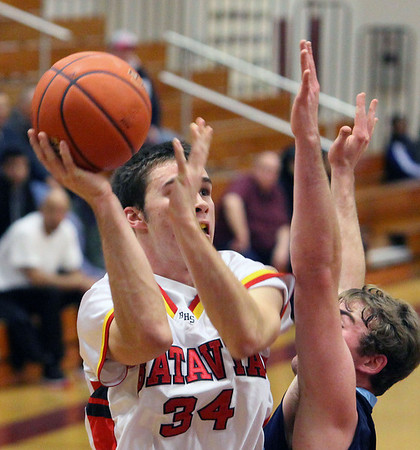 Jeff Krage – For the Kane County Chronicle<br /> Batavia's Zach Strittmatter takes a shot during Saturday's game against Centennial, NV at the 38th annual Elgin Holiday Basketball Tournament.<br /> Elgin 12/29/12