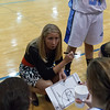 Rosary's head coach Jessica Wilcox talks to her team<br /> at Rosary in Aurora, IL on Friday, January 04, 2013 (Sean King for The Kane County Chronicle)