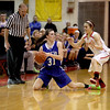 Geneva's Sami Pawlak (31) scrambles for the ball during their game at Batavia Friday night.