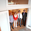 (Left to right) Doug Denz, Cheryl Denz, Michael Lentino and Kevin O'Donnell stand in the doorway of Cheryl Denz's new Riverview Counseling Services facility in downtown St. Charles. O'Donnell and Lentino, of O'Donnell Commercial Real Estate, Inc. were the brokers on the property.
