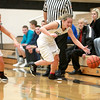 Kaneland's Sarah Grams tries to keep a ball from going out of bounds during their game against Morris in Maple Park Tuesday.