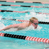 St. Charles East swimmer Will Shanel swims the 100-yard butterfly during their dual meet Thursday against Waubonsie Valley.
