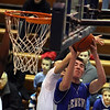 Jeff Krage – For the Kane County Chronicle<br /> Geneva's Mike Trimble goes up for a shot during Saturday's game at Larkin.<br /> Elgin 1/19/13