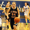 Jeff Krage — For the Kane County Chronicle<br /> St. Charles East's Laney Deckrow leads a fast break while chased by Geneva's Madeline Dunn, left, and Morgan Seberger during Friday's game in Geneva.<br /> Geneva 1/18/13